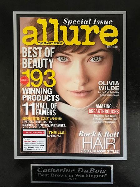 Catherine dubois featured in allure magazine